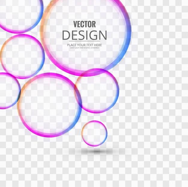 Círculos coloridos fundo
