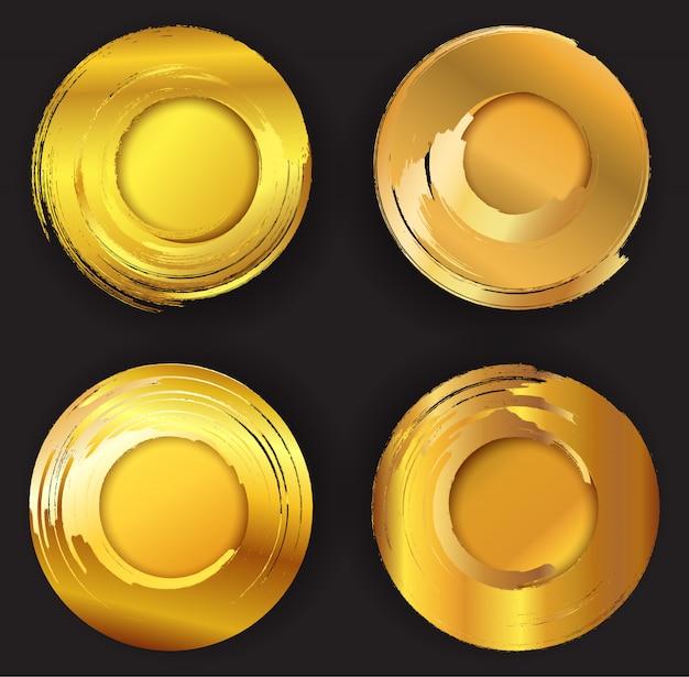 Círculos de grunge dourado