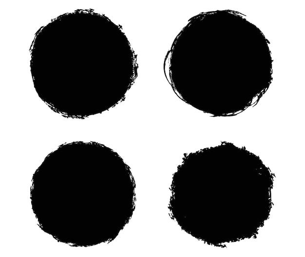 Círculos de grunge preto