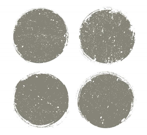 Círculos de textura grunge ou conjunto de armações redondas
