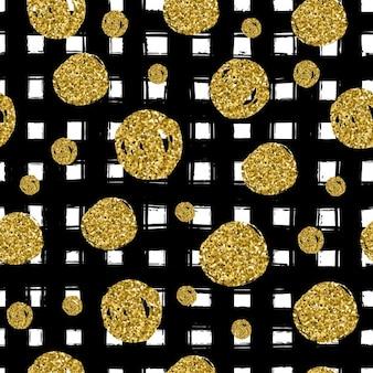 Círculos do ouro no preto mão linha traçada na moda uso emenda no projeto comemorar vetor