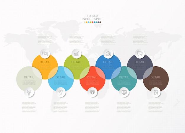 Círculos infográfico para negócios
