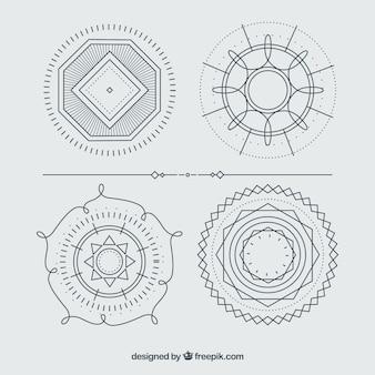 Círculos ornamentos pacote