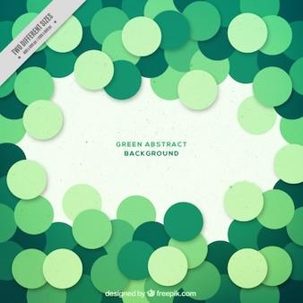 Círculos verdes fundo abstrato