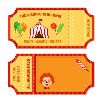 Circus bilhetes de design