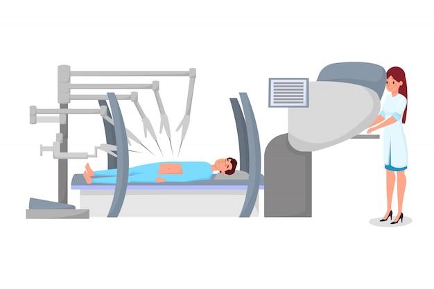 Cirurgia robótica moderna plana