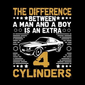 Citação de carro e dizendo. a diferença entre um homem e um menino