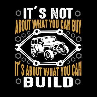 Citação de carro e dizendo. não é sobre o que você pode comprar
