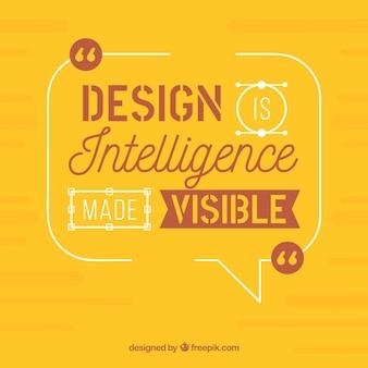 Citação de design gráfico em estilo simples