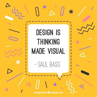 Citação de design gráfico na mão desenhada estilo