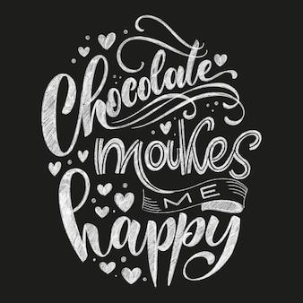 Citação de giz de letras de mão de chocolate. composição de palavra de inverno de natal. elementos de design vetorial para camisetas, bolsas, pôsteres, cartões, adesivos e menu