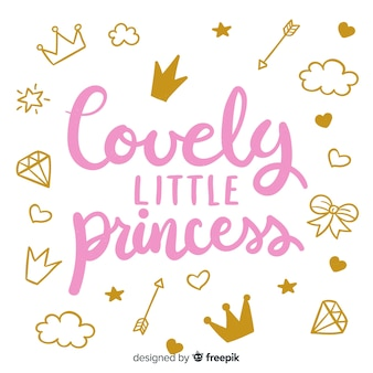 Citação de letras com estilo princesa