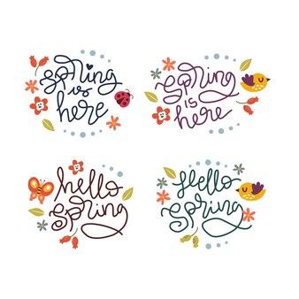 Citação de letras de mão na primavera