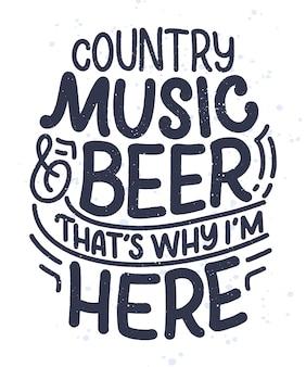 Citação de letras de música country para cartaz de evento ao vivo festival conceito. engraçado slogan para design de impressão de vaqueiro.