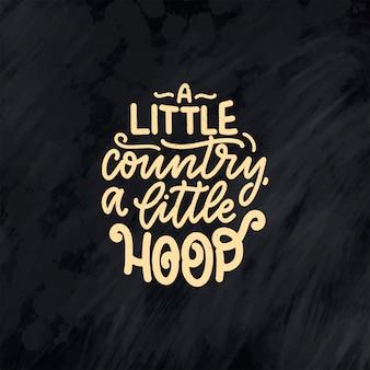 Citação de letras de música country para cartaz de evento ao vivo festival conceito. ilustração texturizada.