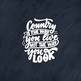 Citação de letras de música country para cartaz do evento ao vivo do festival