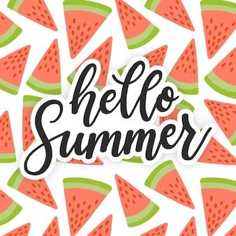 Citação de letras de verão colorido