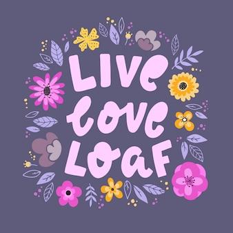 Citação de letras engraçadas com flores
