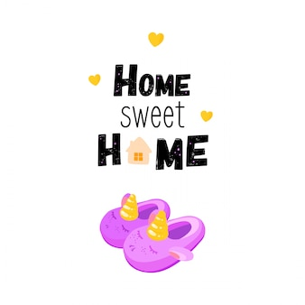 Citação de letras sobre casa. lar doce lar.
