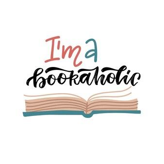 Citação de letras - sou um viciado em livros. adoro ler ilustrações planas de um livro aberto.