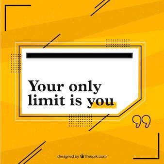 Citação de motivação com fundo amarelo