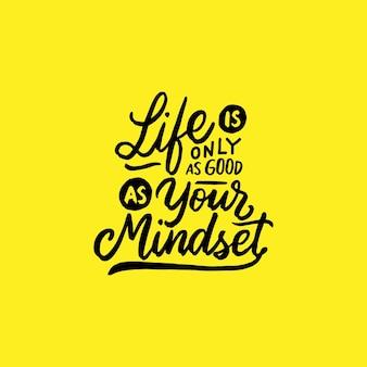 Citação de motivação de tipografia amarela
