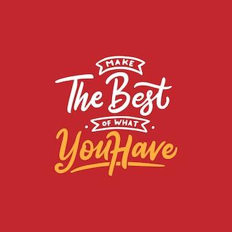 Citação de motivação de tipografia na mão desenhada lettering estilo