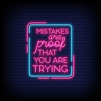 Citação de motivação moderna em sinais de néon