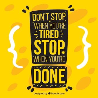Citação de motivação na cor amarela