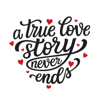 Citação de tipografia de amor