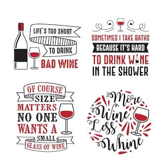 Citação de vinho e dizendo.