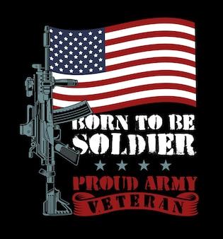 Citação do exército veterano americano