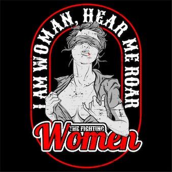 Citação eu sou mulher me ouvir rugido