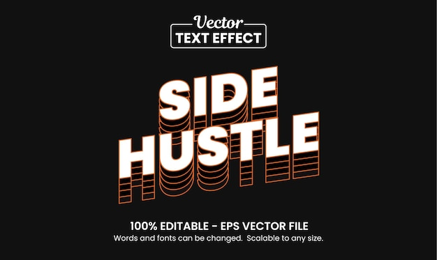 Citação hustle, efeito de texto editável