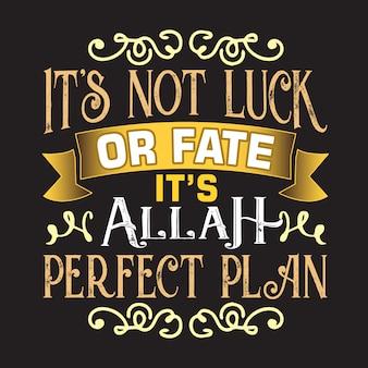 Citação muçulmana e dizendo bom para decoração design