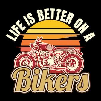 Citação sobre motociclistas, a vida é melhor em um motociclistas