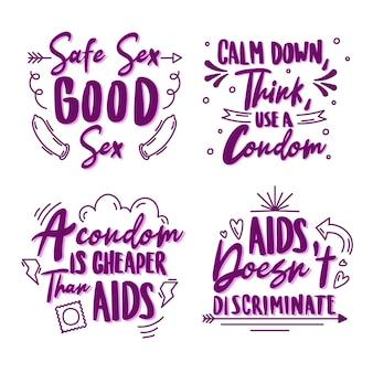 Citações da rotulação do dia mundial da aids