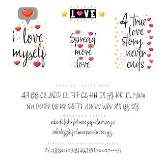Citações de amor e script