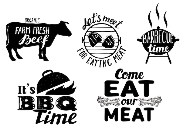 Citações de carne na moda