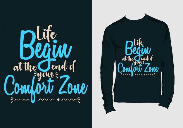 Citações de letras. mão desenhada tipografia t-shirt design