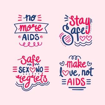 Citações de letras rosa do dia mundial da aids