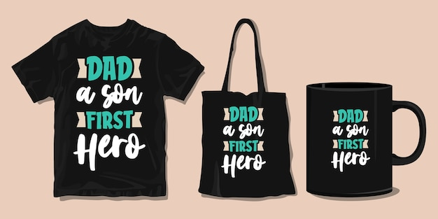 Citações de tipografia de t-shirt familiar. mercadoria para impressão