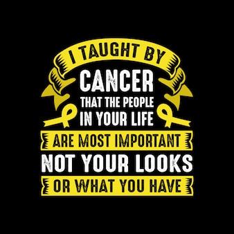 Citações do câncer e dizer
