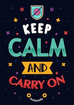Citações inspiradas coronavírus manter a calma e continuar