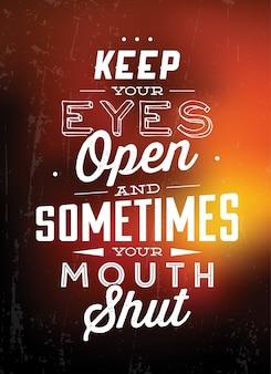Citações inspiradores tipográficas