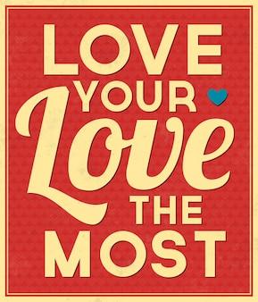 Citações tipográficas do amor do fundo