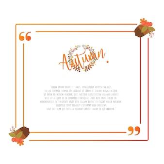 Citar o modelo de elementos de design de moldura de outono