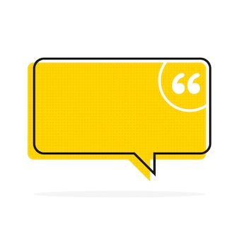 Cite a bolha de texto. vírgulas, nota, mensagem e comentário ilustração vetorial