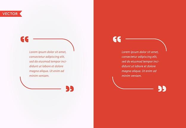 Cite a bolha do modelo. conjunto de citações de vetor de modelo. cores da moda.