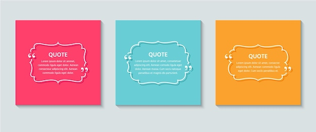 Cite a caixa de texto. ilustração retro colorida em estilo de linha.